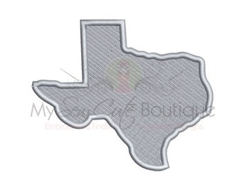 Texas Embroidery Design - Machine Embroidery Designs - 8 Sizes - Instant Download