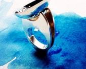 silver 'six memos' concept ring by hybrid handmade Cari-Jane Hakes 'lightness'