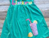 Knit Lemonade dress for girls