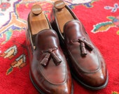 Allen Edmonds Leather Tassel Loafers - Oxblood - Size 11.5