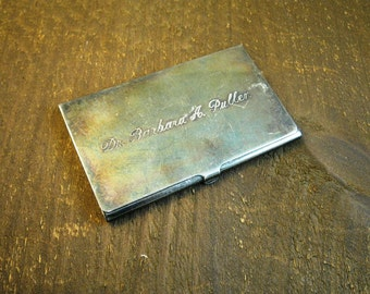 Reed & Barton Sterling Silver Plated Card Case