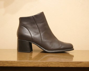 Brown Leather Chelsea Boots 11 Ankle Boots Booties Dark Brown 90s