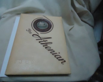 Vintage 1951 The Athenian Yearbook Sherman High School, Sherman Texas, annual, collectable