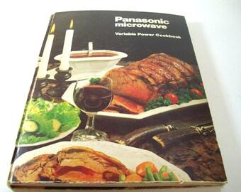 Vintage 1980s Cookbook, Panasonic Microwave, Variable Power, Hardback