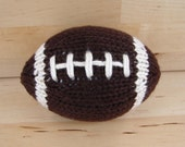 Made to order: Mini Hand-Knit Football- light brown with stripes