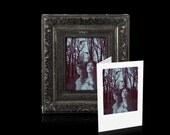 "Mini print 4x5 digital collage ""Her sister's keeper"" Vintage Gothic inspired, plus optional notecard"