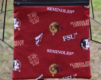 Handmade Florida State University Seminoles Cross Body Game Day Bag Diaper bag