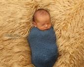 "Camel Mongolian Faux Fur Fabric Long Pile 18""x30"" Newborn Photo Prop, Throws, Faux Fur Prop, Basket Blanket,  Basket Stuffer"