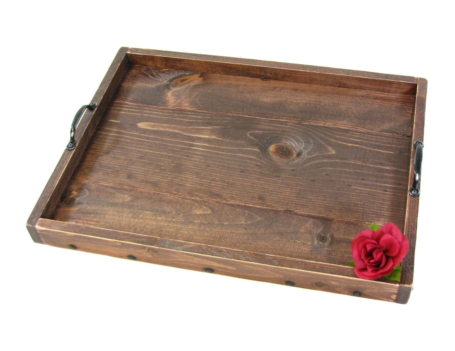 Ottoman Tray Wooden Serving Tray Decorative By Bridgewoodplace