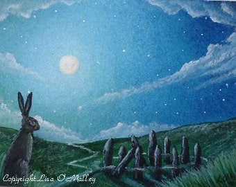 "ACEO Original Watercolour Painting ""Stillness"""