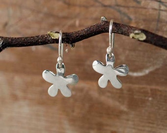 Small Silver Earrings Silver Flower Earrings Sterling Silver Jewelry Jewelry Modern Jewelry Floral Jewelry Unique Christmas Gift - 50.112.2