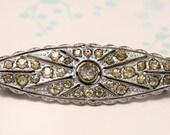 Edwardian crystal brooch.Paste brooch. Vintage brooch