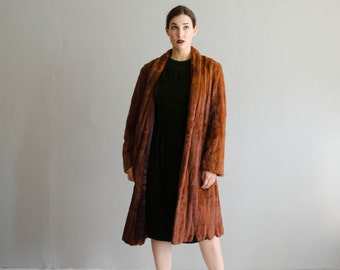 Vintage 1940s Fur Coat - 40s Summer Ermine Coat - Rockford Fur Coat