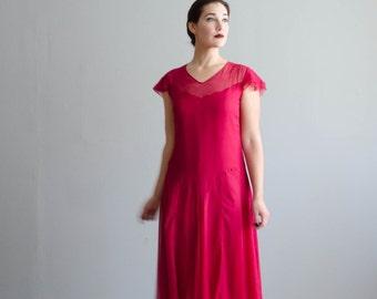 Chiffon 20s Dress - Vintage 1920s Dress - Bonnieux Flapper Dress