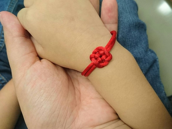 """Red Chinese Knot good luck bracelet -""""The Plafond Knot""""(made to order)"""