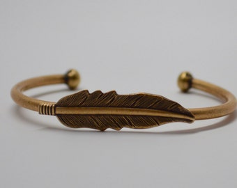 Feather Bracelet, Feather Bangle