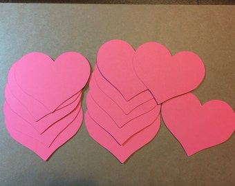 "17 - 2.5""  Heart Die Cuts - pick your color"