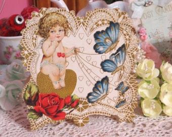 Vintage Childrens Valentine Card-1920s-Victorian