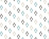 Changing Pad Cover - Aqua Baby Bedding / Ikat Nursery Bedding / Tribal Baby Bedding / Aqua Contoured Changing Pad Cover / Diaper Pad Cover