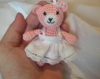 Mini amigurumi cuddly bear approx. 3 inches