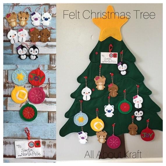 Felt Christmas Tree Advent Calendar: Items Similar To Felt Christmas Tree