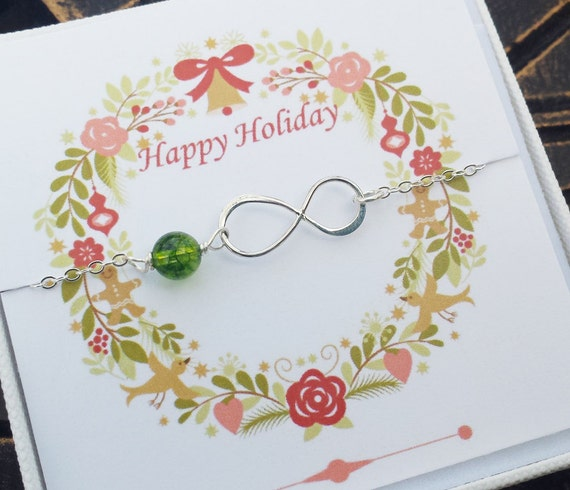 Infinity and birthstone sterling silver bracelet,eternity infinity bracelet,bridesmaid gifts,sisterhood,customize birthstone,wedding