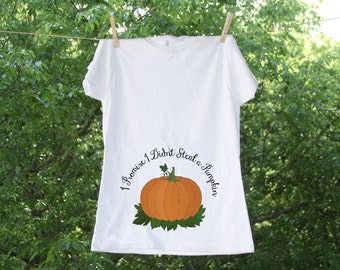 Pumpkin // I Promise I Didn't Steal A Pumpkin // Fall Maternity Shirt