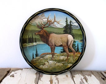 Vintage Elk Serving Tray