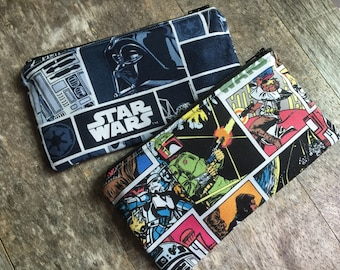 Reusable Snack Bags, Set of Two Reusable Snack Bags, Star Wars Snack Bags