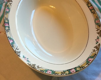 Vintage Oval Serving Bowl MTC2 by Mount Clemens Pottery Made in The USA #3678