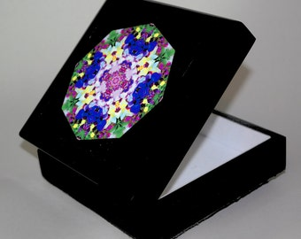 Iris Music Box Trinket Box Boho Chic Mandala New Age Sacred Geometry Hippie Kaleidoscope Eternal Elation