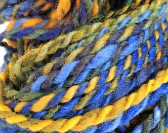 """Handspun Yarn -- """"Swallowtail"""" -- English Shetland wool -- 80 yards bulky weight"""