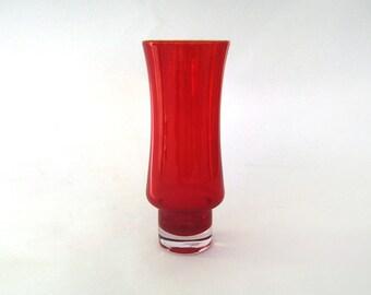 RIIHIMAKI Tamara Aladin 1374 RED Vase FINLAND