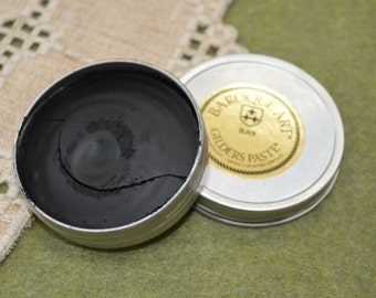 Black Wax Paste Gilders Paste® 1.5-ounce Сanister Paint
