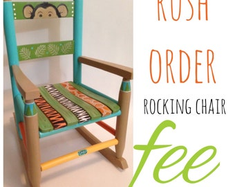 Rush order - child's rocking chair