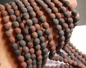 Mahogany Obsidian - matte -  8 mm A quality - 48 beads per strand - full strand - RFG468