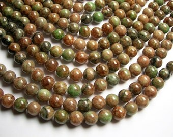 Kashgar Garnet - 10mm round bead - 39 beads - A quality - full strand - RFG939