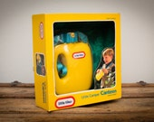 Vintage 1991 Little Tikes Camper Canteen, New in Box, Yellow Plastic