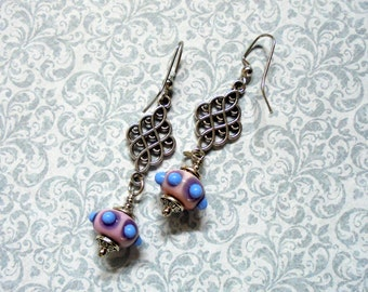 Pink and Lavender Earrings (2334)
