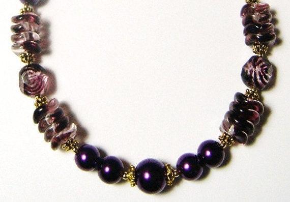 OOAK Purple Delight Bracelet - Anklet