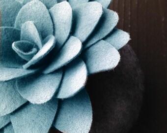 simple stone succulent felt plant