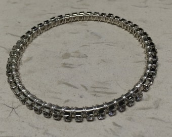 Wire Wrapped Swarovski Cupchain Bangle