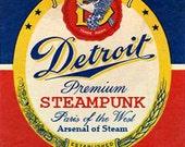 Detroit Steampunk Medal
