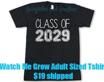 Class Shirt - Class of 2029 Shirt - Back to School - Class of 2029 - Watch Me Grow Shirt - School Shirt - Graduate Shirt - 2029