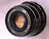 Like New! Fast Sharp Black MC INDUSTAR-61 LTM Lens 2,8/53 For Leica, Zorki + Cap + Macro Ring