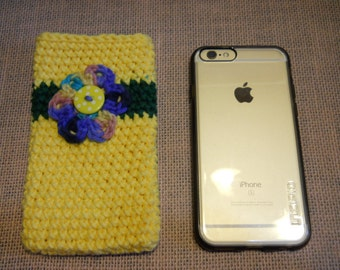 Cell Phone Case, iPhone Cover, Cellphone Cover, Phone Protective Cover, Crochet Phone Cover, Handmade Gift,