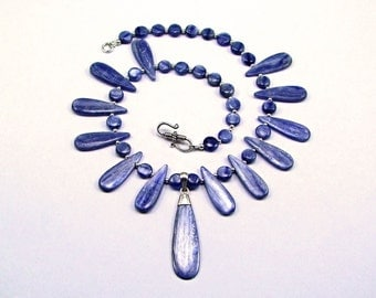 Stunning Ice Blue Kyanite & Sterling Silver Necklace - N602