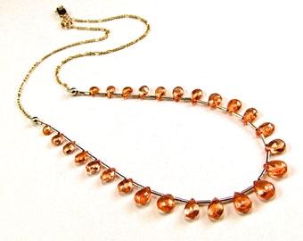Rare Mandarin Spessartite Garnet Necklace - N486