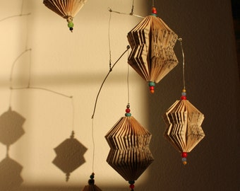 Hanging Folded Book Art