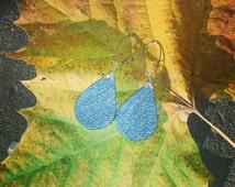 Denim Earrings- Denim Drop